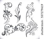 vintage flower design elements. ... | Shutterstock .eps vector #537279619