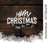 merry christmas  greeting tag... | Shutterstock . vector #537281650