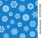hand drawn abstract snowflakes... | Shutterstock .eps vector #537292240