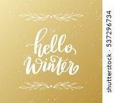 vector hand drawn greeting card ... | Shutterstock .eps vector #537296734