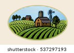 vector image of village and... | Shutterstock .eps vector #537297193