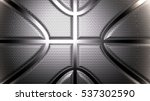 metallic basketball design...   Shutterstock . vector #537302590