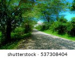 the scenery of a country load | Shutterstock . vector #537308404