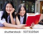 two asia thai high school... | Shutterstock . vector #537310564
