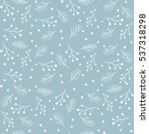 seamless christmas pattern with ... | Shutterstock .eps vector #537318298