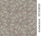 seamless christmas pattern with ... | Shutterstock .eps vector #537318310