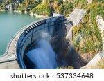 Kurobe Dam And Rainbow