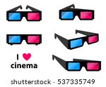 3d cinema glasses isolated on a ... | Shutterstock .eps vector #537335749