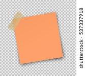 paper sheet pin on translucent... | Shutterstock .eps vector #537337918