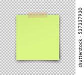 post note paper sticker... | Shutterstock .eps vector #537337930