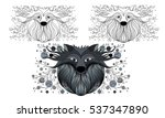 decorative picture wolf | Shutterstock .eps vector #537347890