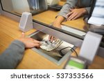 people  withdrawal  saving and... | Shutterstock . vector #537353566