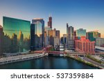 Chicago At Dawn. Cityscape...
