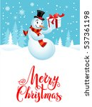 snowman holiday cartoons | Shutterstock .eps vector #537361198