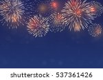 brightly colorful fireworks on... | Shutterstock .eps vector #537361426