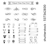 trophy  ribbons and awards set. ... | Shutterstock .eps vector #537362830