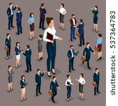 isometric people  businessmen... | Shutterstock .eps vector #537364783