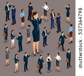 isometric people  businessmen... | Shutterstock .eps vector #537364798