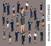 isometric people  businessmen... | Shutterstock .eps vector #537364810