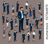 isometric people  businessmen... | Shutterstock .eps vector #537364870