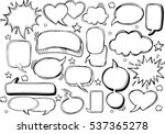 a set of comic bubbles and... | Shutterstock .eps vector #537365278