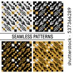 arrows seamless vector pattern... | Shutterstock .eps vector #537366289