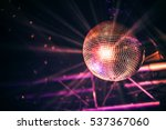 Disco Ball With Bright Rays ...