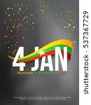 myanmar independence day 4...   Shutterstock .eps vector #537367729