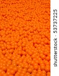 lots of orange balls - stock photo