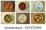 food set of different... | Shutterstock . vector #537372544