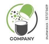 medicine capsule logo | Shutterstock .eps vector #537373609