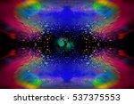 pigments and ice kaleidoscope | Shutterstock . vector #537375553