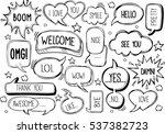 set of speech bubbles with... | Shutterstock .eps vector #537382723