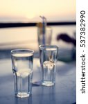 Two Glasses Of Water At Roofto...