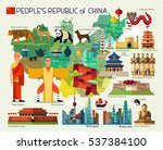 vector set of various chinese... | Shutterstock .eps vector #537384100