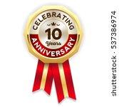 green celebrating 10 years... | Shutterstock .eps vector #537386974