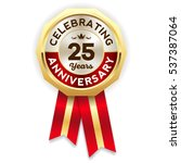 green celebrating 25 years... | Shutterstock .eps vector #537387064