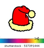 Web Line Icon. Hat Santa Claus