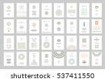 huge collection of cute holiday ... | Shutterstock .eps vector #537411550