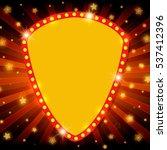 shining retro light banner on...   Shutterstock .eps vector #537412396