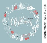 christmas illustration ... | Shutterstock . vector #537412618