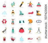 Winter Sports And Fun Color...