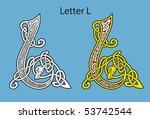 ancient celtic alphabet  26... | Shutterstock .eps vector #53742544