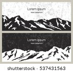 mountain range banners. outdoor ... | Shutterstock .eps vector #537431563