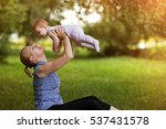a small child  a little girl... | Shutterstock . vector #537431578