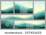 polygonal mountain backgrounds. ... | Shutterstock .eps vector #537431653