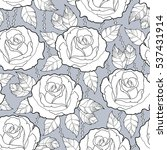 vector seamless pattern with... | Shutterstock .eps vector #537431914