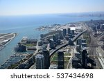 Aerial View Of The City And Th...