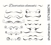 hand drawn divders set.... | Shutterstock . vector #537438874