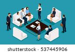 business people isometric set... | Shutterstock .eps vector #537445906